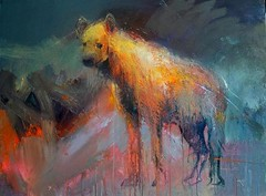 Hyena. (Peter G Hall) Tags: painting canvas oil hyena peterhall