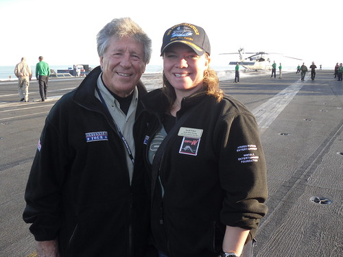Mario Andretti with Sarah Fisher