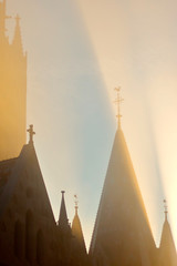 Foggy Budapest (okuna) Tags: street city light shadow building fog architecture hungary budapest cityscapes