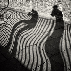 blown away (urchino) Tags: bw london square shadows distorted fulham lumixgf1 20mmpancake