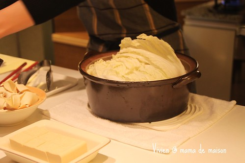 大白菜放入砂鍋