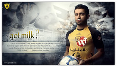 Got Milk ? ... (Bally AlGharabally) Tags: club milk football model photographer designer soccer united famous player 1993 got states kuwait campaign rai  talal kuwaiti bally    qadsiya  a  gharabally algharabally  alaamr