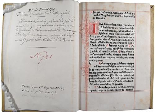 Penwork decoration in Gerson, Johannes: De mendicitate spirituali cum orationibus et meditationibus diversis