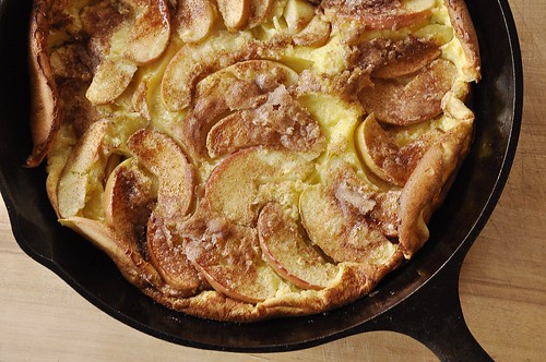 Cinnamon Apple Dutch Baby Pancake
