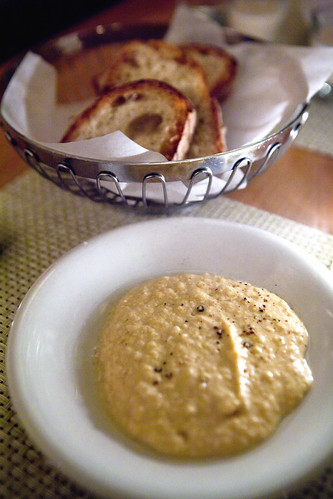 Housemade hummus and bread