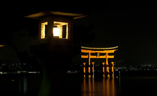Cold night at Miyajima