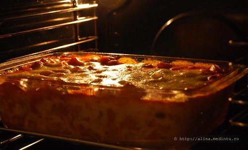 paste la cuptor, cu rosii si mozzarella