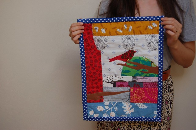 My warbler mini quilt