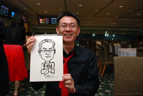 caricature live sketching for Thorn Business Associates Appreciate Night 2011 - 41