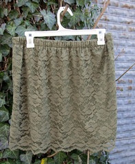 8 green lace skirt
