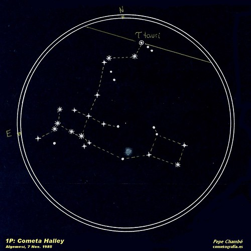 Halley Comet, Nov. 7th, 1985