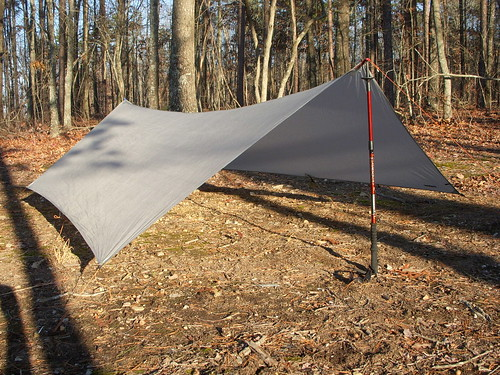 Trekking poles as tarp supports
