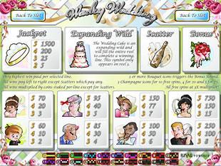 free Wacky Wedding slot mini symbols