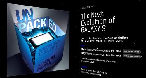 Unpacked next galaxy S