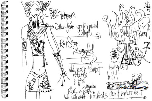 fashion sketch & ideas for comissioned project