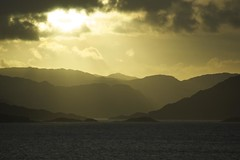 across the water (ShirleyGrant) Tags: skye sunrise scotland lochnevis