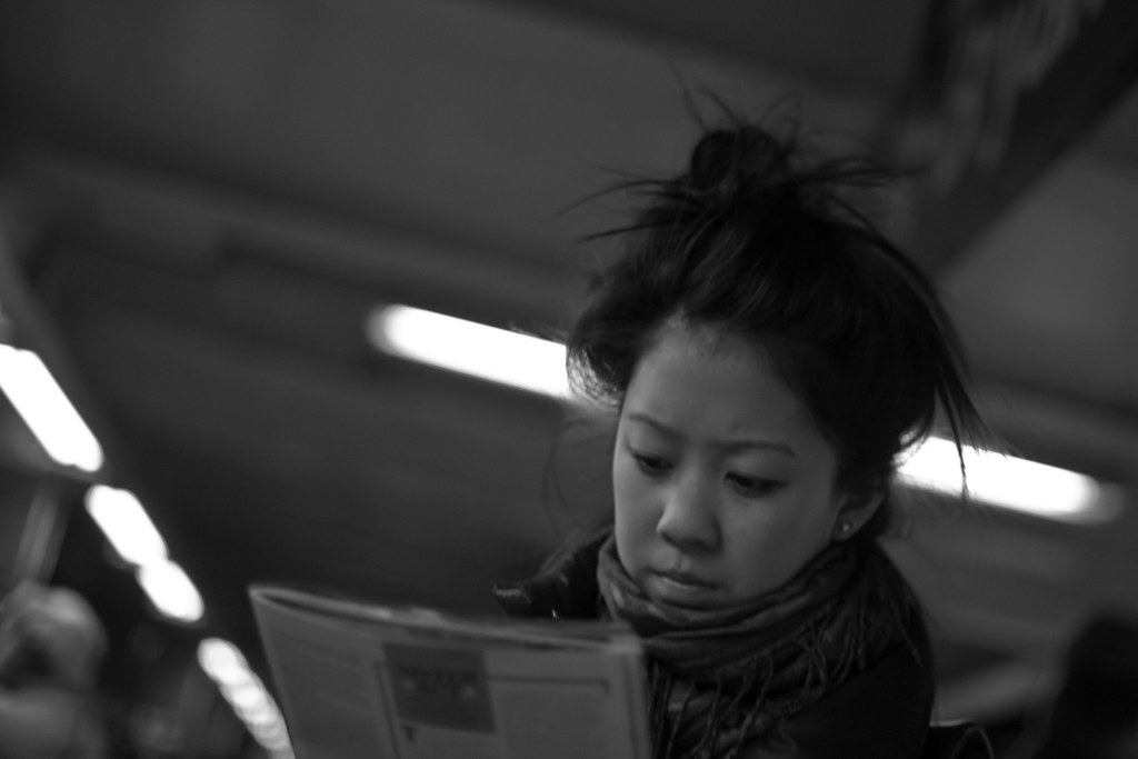Reader at 42nd Street