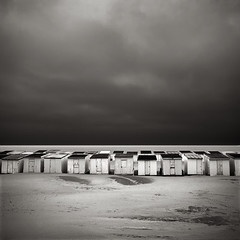 Beach Houses#1 (Laurent Miaille) Tags: houses beach beachhuts calais waterscapes pasdecalais beachhouses plages cabanes cabines laurentmiaille