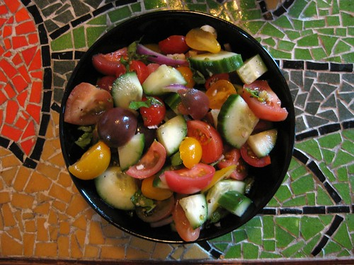 baby heirloom tomato salad by drollgirl