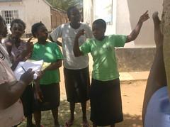 Deaf girls being interviewed