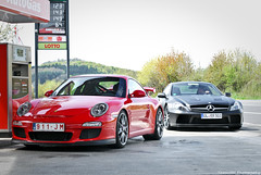 GT3 MKll & SL Black Series (ThomvdN) Tags: photoshop germany photography nikon may automotive thom 1855 vr 2010 lightroom carphotography nrburgring d60 cs3 nordschleifde thomvdn