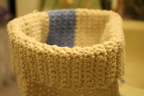 Crocheted organizer box/basket