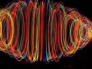 luces de colores...