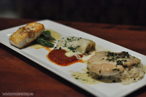 Halibut, Canneloni and Chicken Picatta at Enjoy! ~ Apple Valley, MN