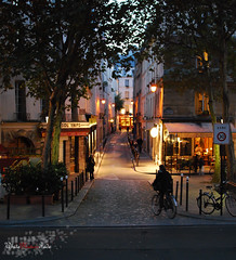 Paris - Ambiance nocturne (WhiteFlowersFade) Tags: voyage road nightphotography travel paris france night nikon route rue nuit ville streetview 35mmf18 fixedfocal d40x