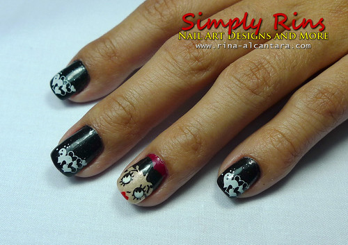 Valentines Nail Art - Betty Boop 02