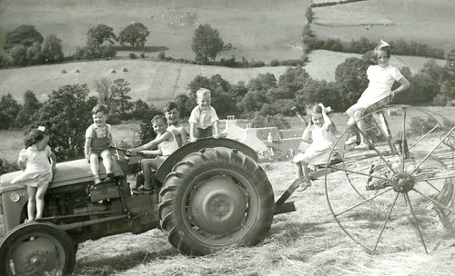 Roderick and Douglas McCreath with cousins 1952