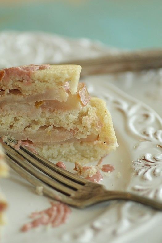 Pear Rice Cake Slice