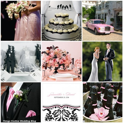Pink Black White Wedding Bridesmaids weddingbeecom Rolls Royce