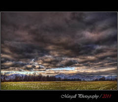 Also today, cloudy sky - HDR - San Pietro del Gallo - Cuneo - Italy (Margall photography) Tags: winter italy storm field del canon photography gallo san italia sigma piemonte marco cuneo hdr manfrotto pietro monopod 30d galletto margall cloudr 776yb