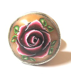 Red Rose Ring by TovArt Creations (TovArt Creations) Tags: israel redrose craft ring   israeliart   isart israelicraft romanticring greenleavs   tovartcreations feminindesign