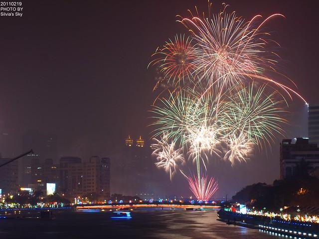 2011高雄元宵節燈會煙火