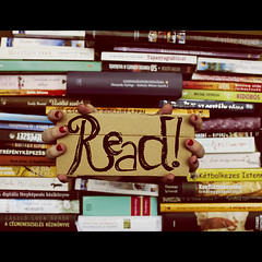 Day Five Zero - Read! (tulipnka) Tags: world school red portrait white black green yellow writing self canon vintage word photography eos rebel reading book kiss hungary hand message purple finger nail books read nails portraiture knowledge letter write concept conceptual economy maths x4 hungarian 550 t2i