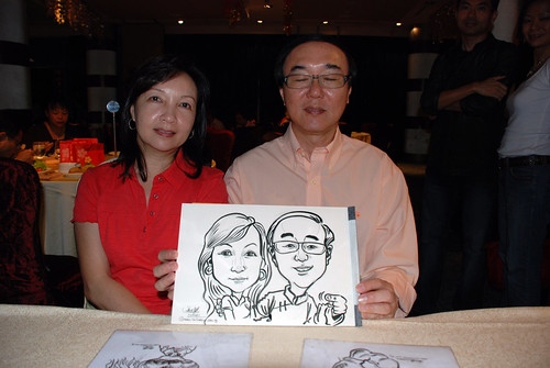 caricature live sketching for OCBC Securities - 3