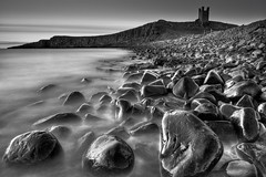 Dunstanburgh Rocks (Philip Eaglesfield (Eggles)) Tags: longexposure england blackandwhite seascape coast rocks northumberland northeast dunstanburgh bigstopper