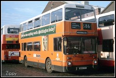 4077 BVR77T (Zippy's Revenge) Tags: bus warrington depot standard leyland fleetline atherton 586 4077 8077 gmbuses northerncounties gmn ncme gmbusesnorth bvr77t