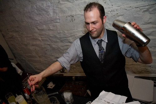 Bartender Hal Wolin shakes things up.