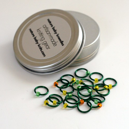 NatureBabyKneedles Stitch Markers<br> Fresh Spring Greens