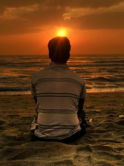 Waiting for your rise! (srivatsaa) Tags: beach marinabeach nikonaward