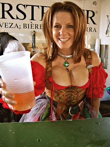 Florida Renaissance Festival - Pirate Weekend busty babe wench beer warsteiner