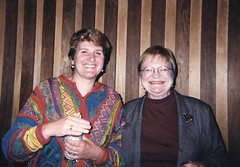 Jamie Langlie MPA '91 (right) with Elizabeth Anderson