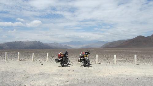 Bikes at Nazca lines