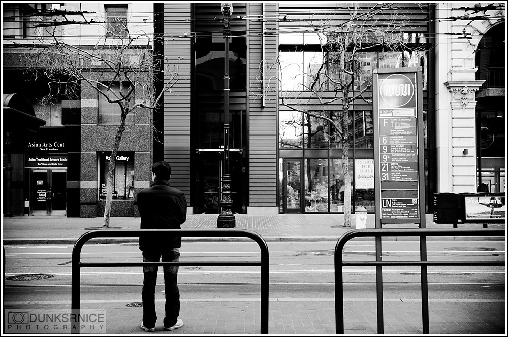 Waiting B&W.