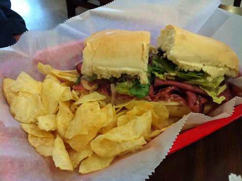 Half sandwich from Vanelli's in Germantown