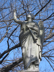 IMG_6413 (lostinbrooklyn) Tags: winter sky cemetery outside greenwoodcemetery greenwood statuary brooklynny 2011