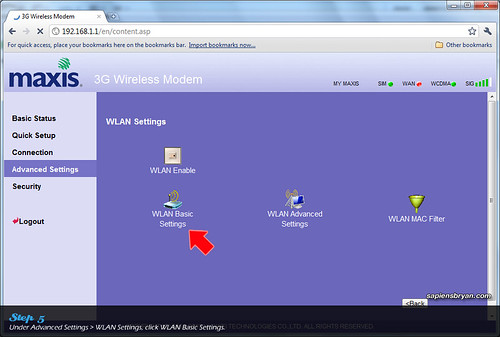 Securing Wireless Network Using Maxis WiFi Modem Step 5